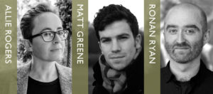 Debut Author Night: Allie Rogers, Matt Greene and Ronan Ryan @ The Bookseller Crow | England | United Kingdom